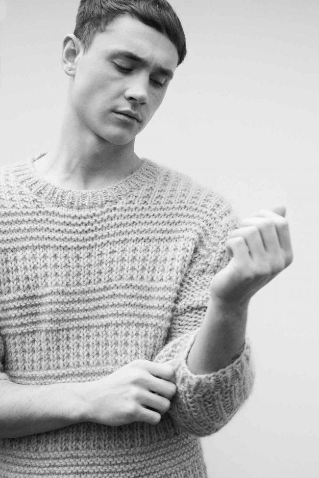 Mens Hand Knit Wool Alpaca Jumper