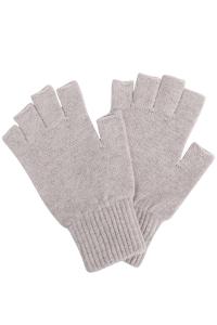 Fingerless Lambswool Gloves Clay Melange - British Made