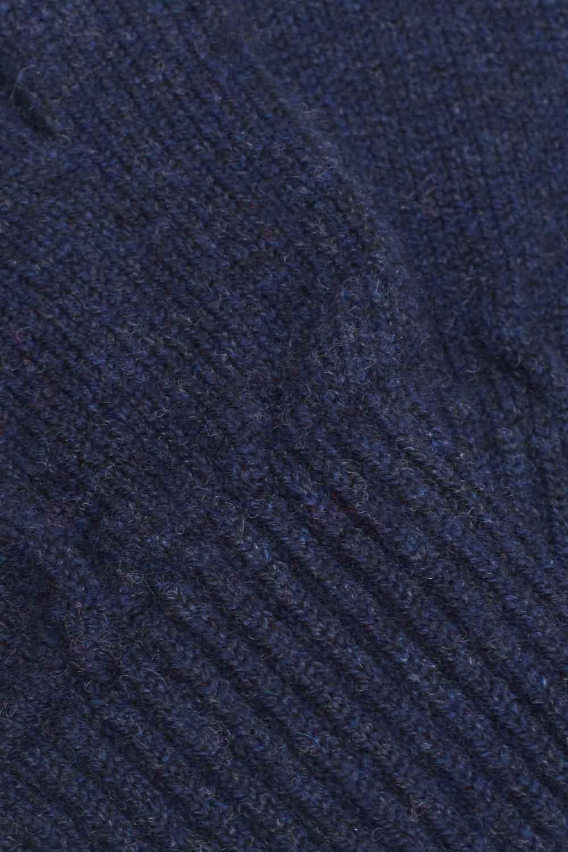 unisex navy fingerless wool gloves