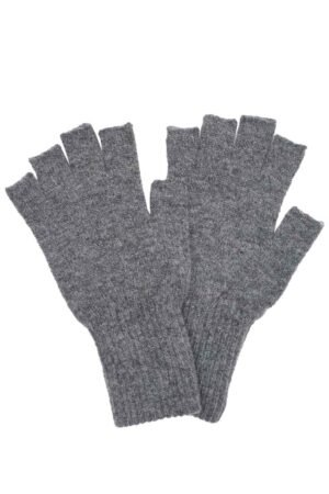 grey fingerless unisex gloves
