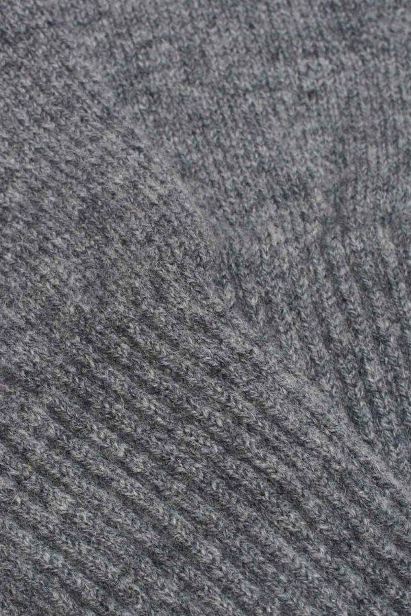 cosy grey wool fingerless gloves