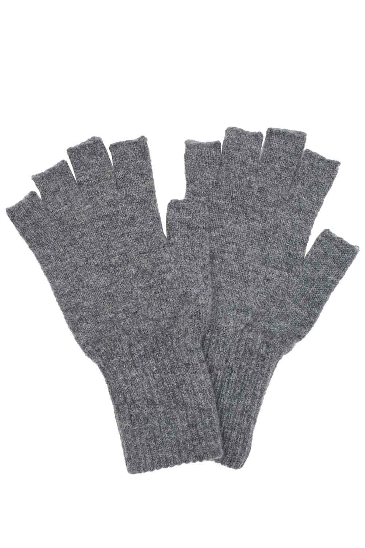 grey fingerless unisex gloves