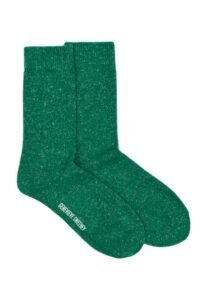 Wool Linen Bright Green Socks