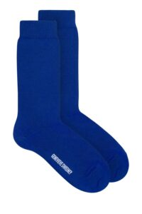 Unisex luxury organic cotton cobalt blue socks - Made in Britain