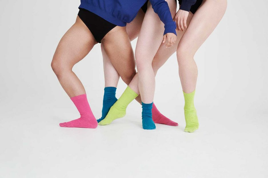 Colourful cotton womens socks