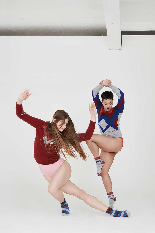 womens cashmere jumpers hand intarsia geometric