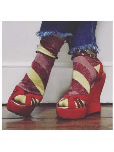 Sparkly Socks & Heels