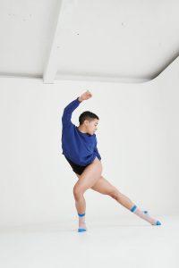womens slouch summer jumper bright blue