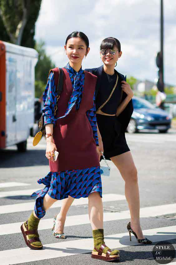 textural socks and sandals inspiration