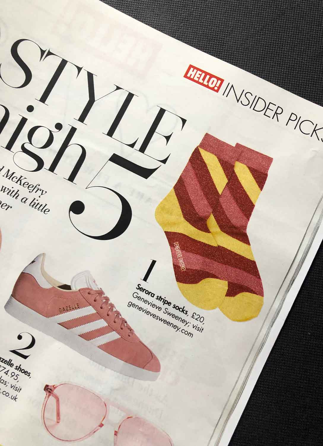 Stye High 5 Hello Magazine Sparkly Socks