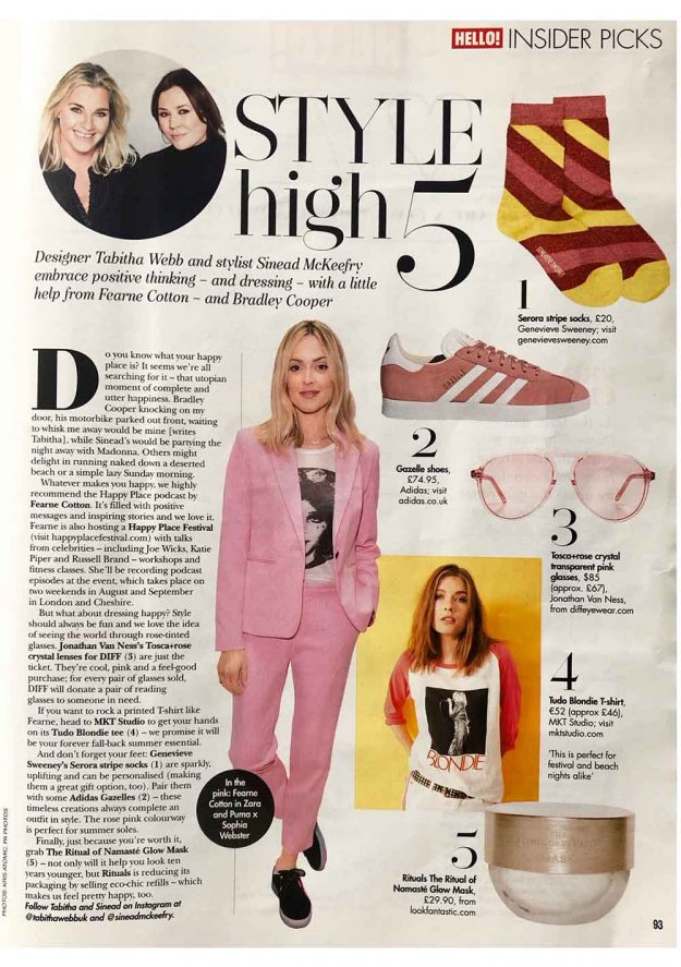 Hello Magazine Fearne Cotton Serora Sparkly Socks