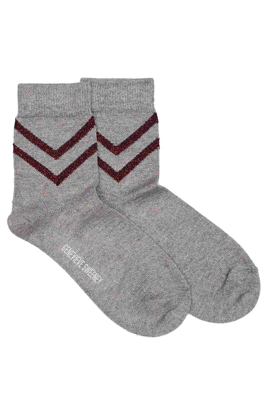 womens silver glittery ankle socks