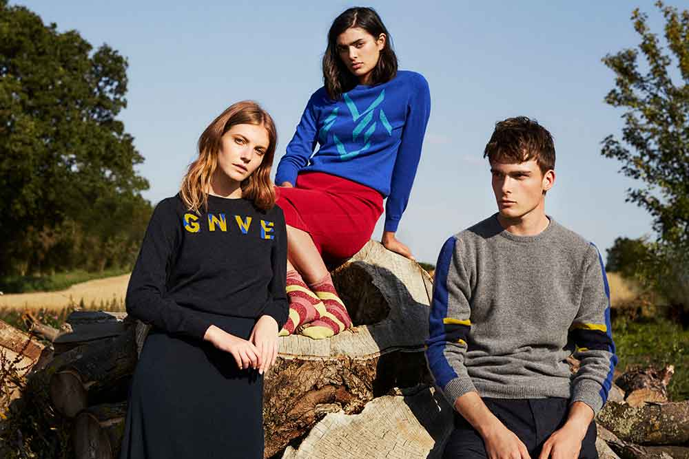 contemporary British knitwear made in Britain cashmere