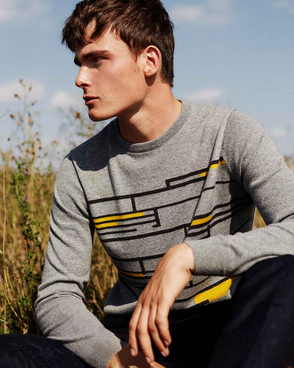 mens sustainable knitwear made in Scotland