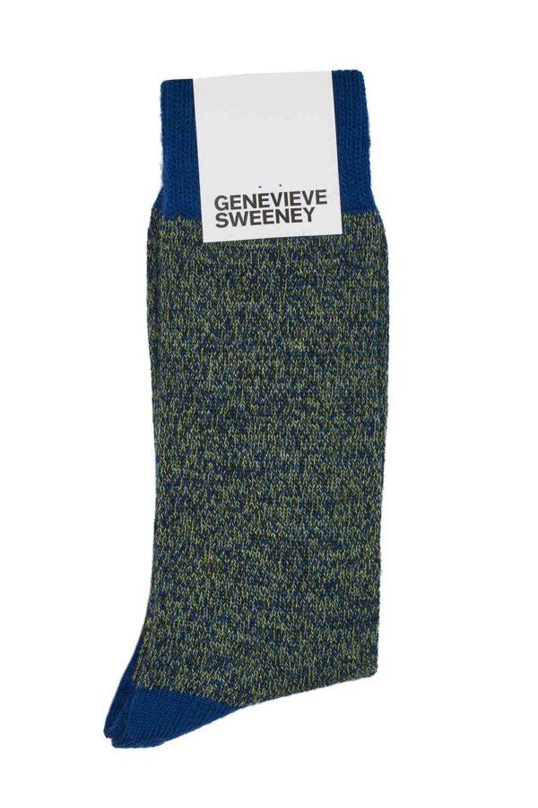 luxury merino wool mens navy marl socks