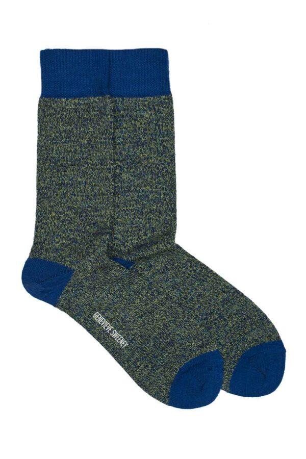merino wool navy lime charcoal marl socks