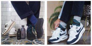 socks and trainers en brogue