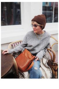 Stylonylon Grey Cable Lambswool Sweater