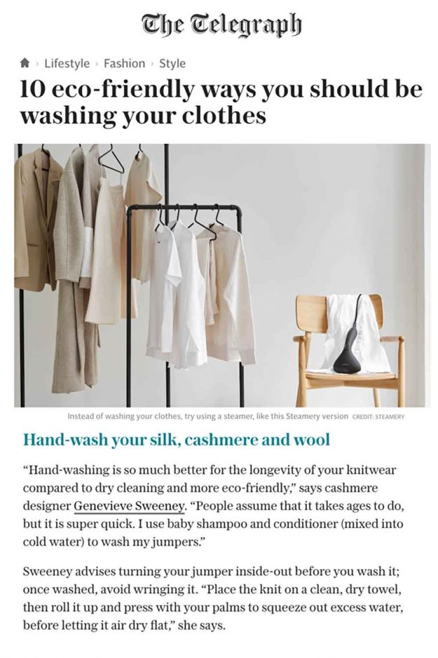 Eco Friendly ways to wash Cashmere
