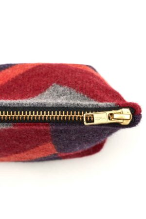 luxury small accessory red bag wool geometric