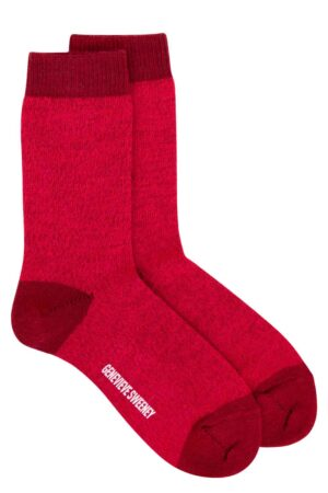 merino wool burgundy pink socks