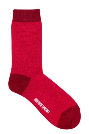 merino wool burgundy pink socks british made