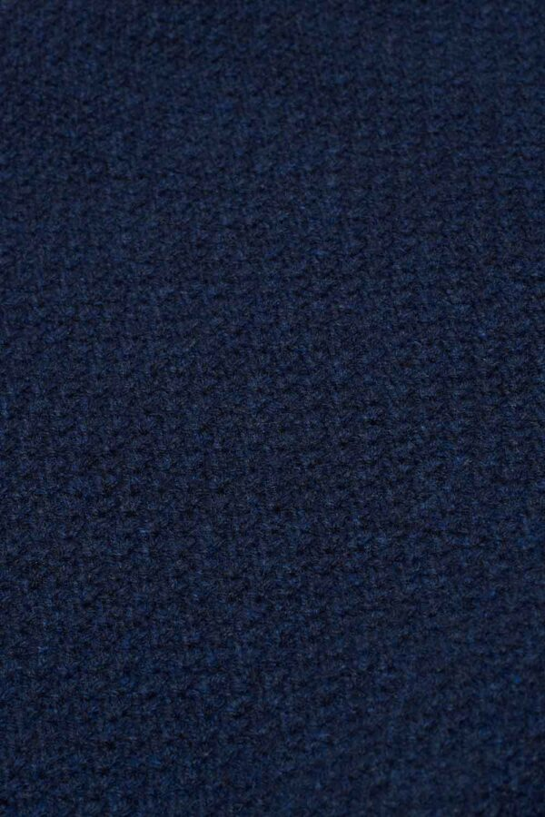 british knitwear moss stitch lambswool navy blue