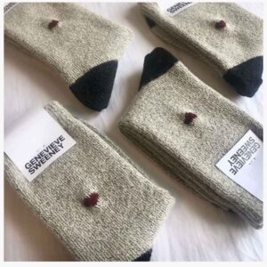 Alpaca Wool Ecru Socks British made