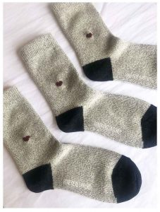 Alpaca Wool Socks with Hand Embroidered Heart