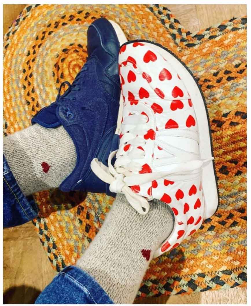 Dana and the red shoes GS Sock Subscription His and Hers