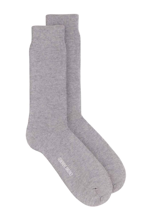 luxury grey cotton mens socks made in Britain