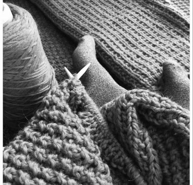positive hobbies hand knitting