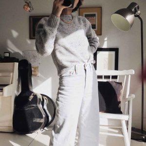 Stylonylon Spring sweater lambswool cashmere grey