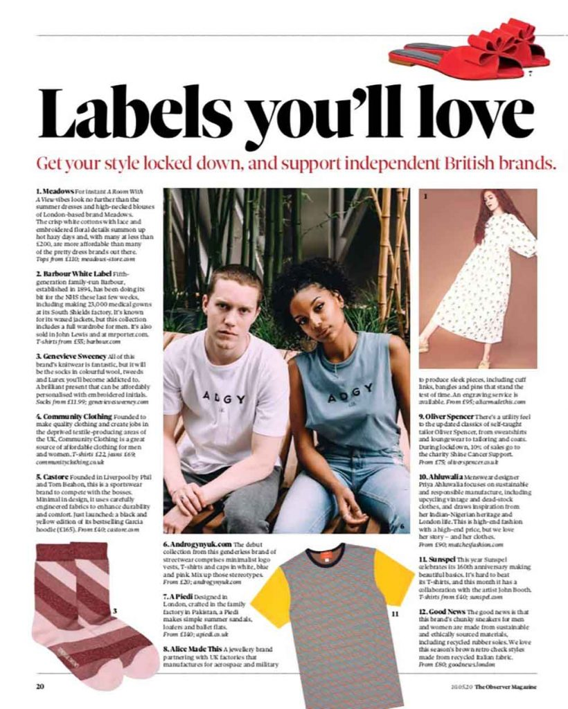 observer magazine support independent brands Genevieve Sweeney