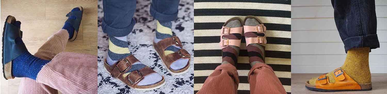 socks and sandal style British socks En Brogue