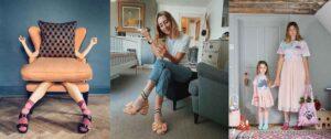 Sparkly Pattern Socks and Sandals British Pink Socks