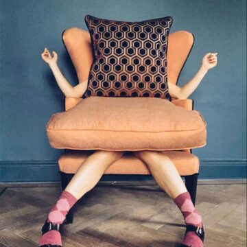 Style in the stix argyle cotton sock