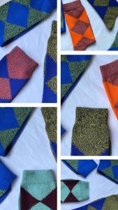 modern argyle sock cotton marl