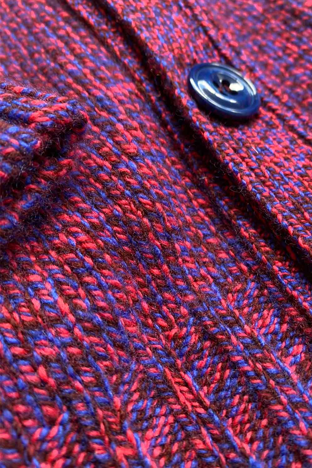 womens lambswool cardigan pink blue marl
