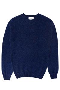 mens blue lambswool jumper made in Britain