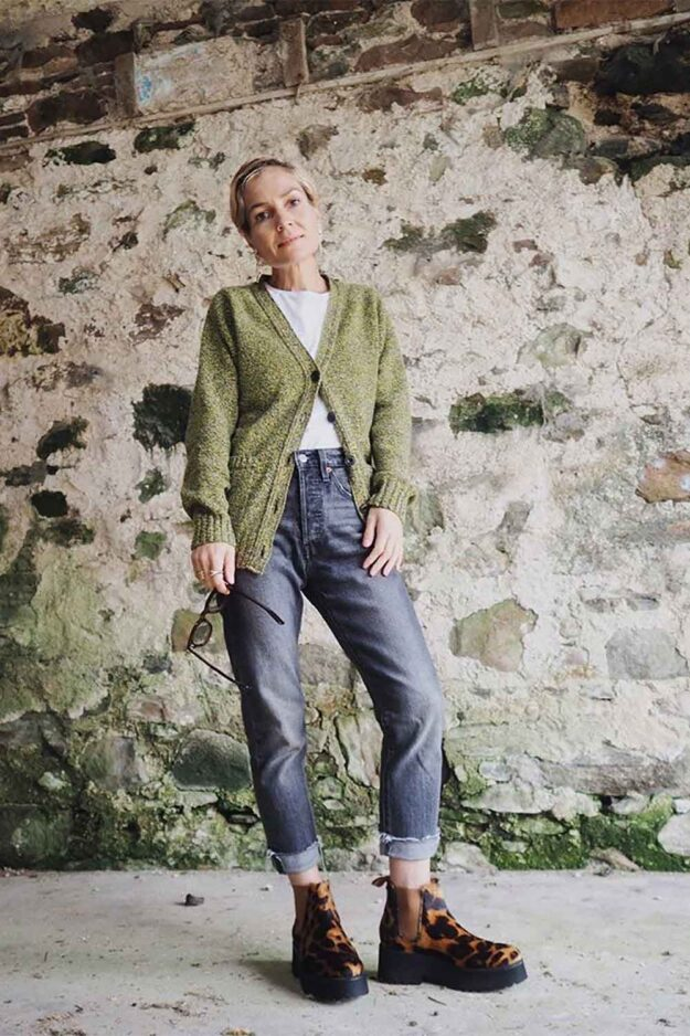 how to wear wool cardigan, made in Britain