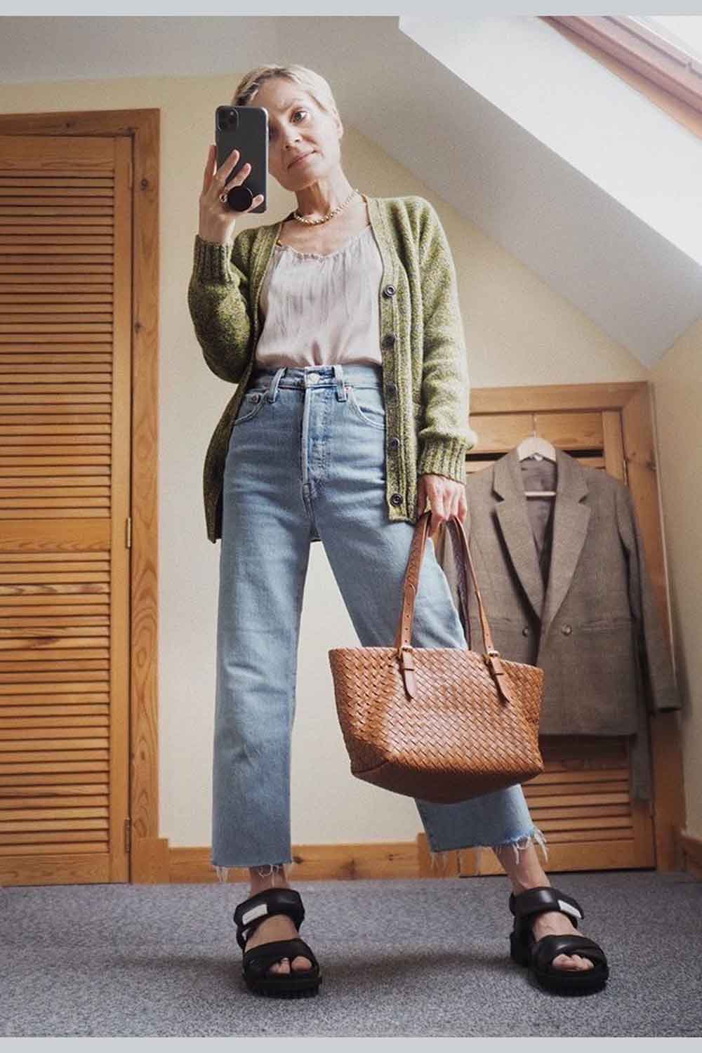 how to style your cardigan mustard lambswool british made