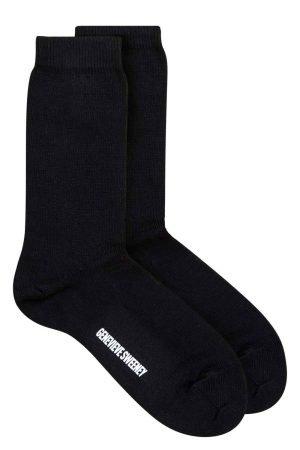 black cotton british made socks