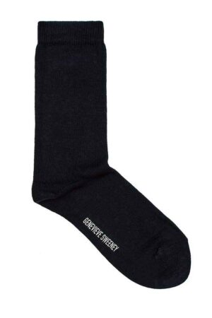 modern everyday staple black unisex cotton socks