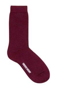 luxury berry cotton socks british made