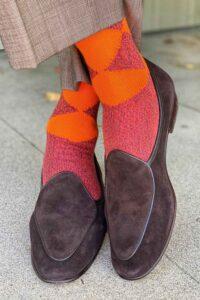 modern argyle mens cotton socks made in Britain