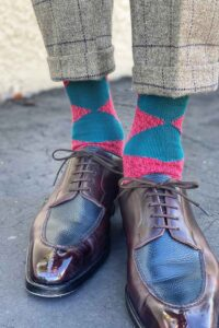 Mens style Brogues and british made socks