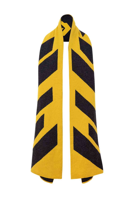 statement oversized scarf mustard lambswool