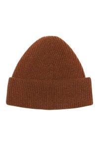 Unisex 100% lambswool beanie hat in Hazelnut British made