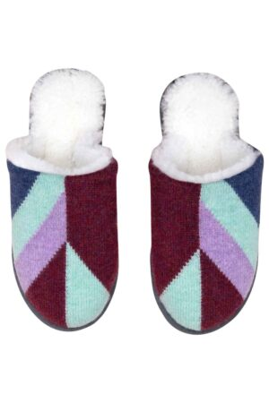 luxury wool slippers geometric British made